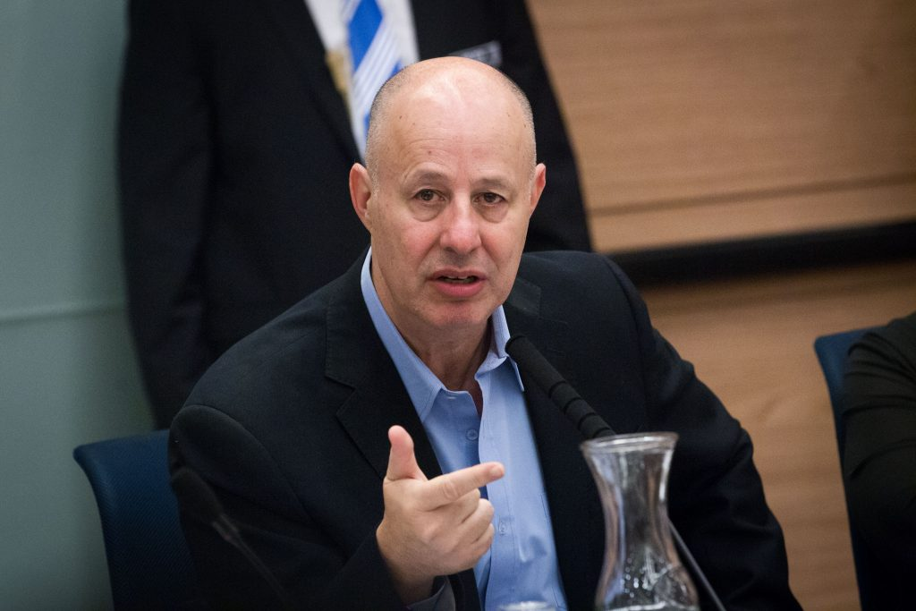 Minister without Portfolio Tzachi Hanegbi, of Likud. (Miriam Alster/Flash90)