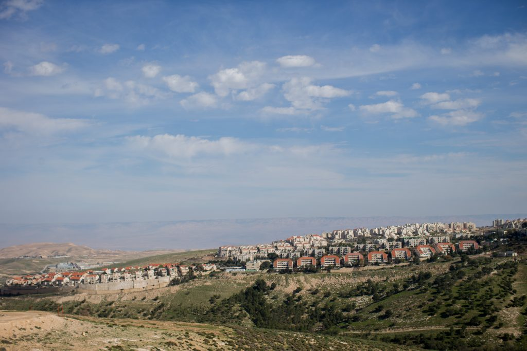 A view of Maalei Adumin (Yonatan Sindel/Flash90)