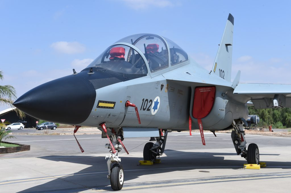 The Lavi trainer plane, made in Italy for the Israel Air Force. (IDF Spokesperson)