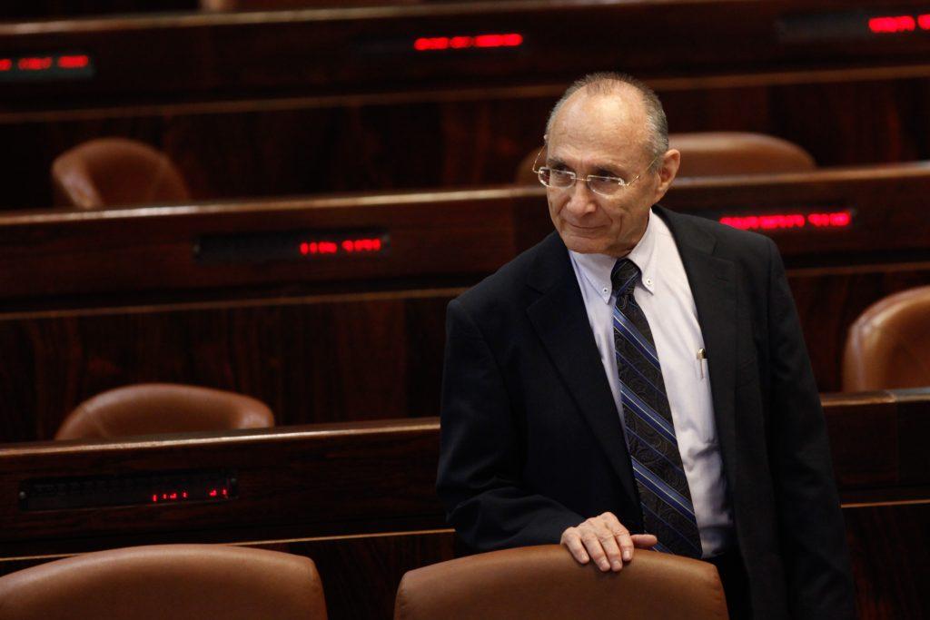 Former minister Uzi Landau, Defense Minister Avigdor Liberman's nominee for chairman of Rafael Air Defense Systems. (Flash90)