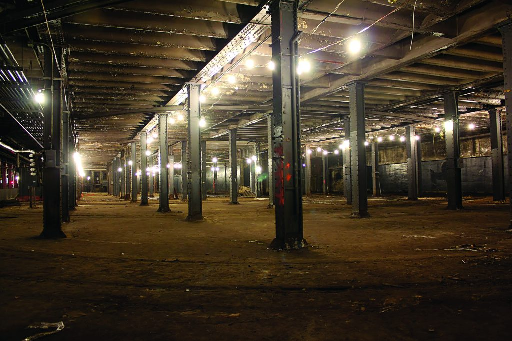 The abandoned trolley terminal deep underground on the Lower East Side, which is expected to house the world's first underground park. (AP Photo/The Lowline, Danny Fuchs)