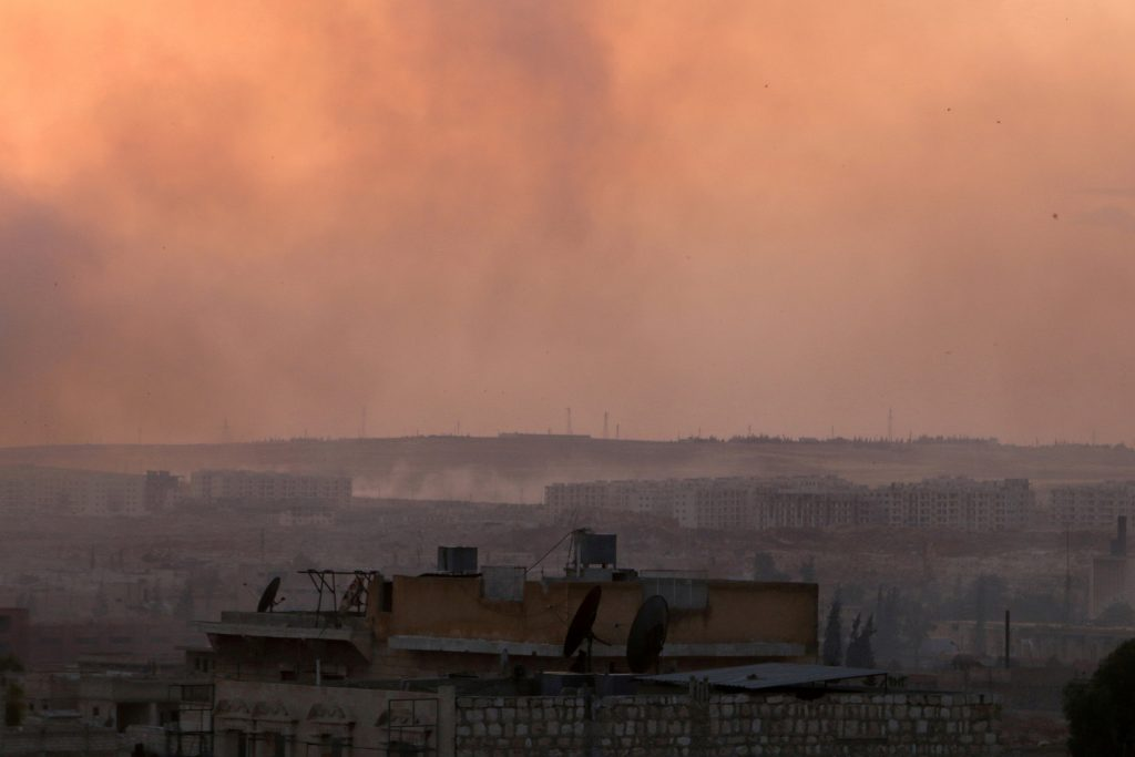 Smoke rises after airstrikes on Aleppo's Castello road, Syria June 2, 2016. REUTERS/Abdalrhman Ismail/File Photo