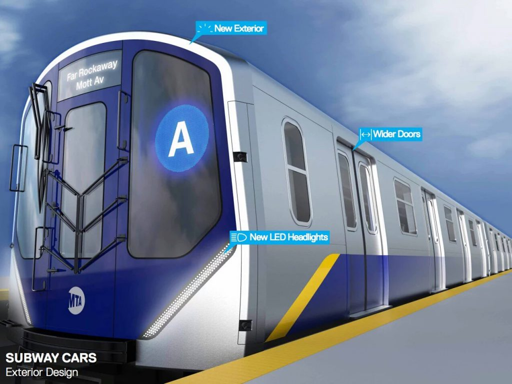 The new redesigned MTA subway cars.