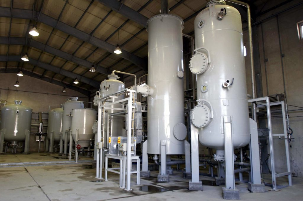 This Oct. 27, 2004, photo, shows the interior of the Arak heavy water production facility in Arak, Iran. (AP Photo/Fars News Agancy, File)
