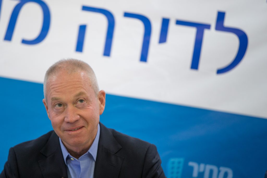 Minister of Housing Yoav Galant (Kulanu). (Yonatan Sindel/Flash90)