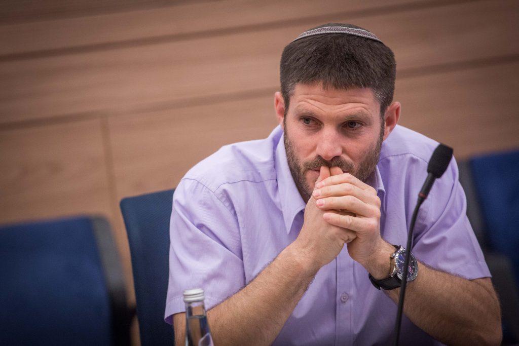 MK Bezalel Smotrich, a co-sponsor of the NGO Transparency bill. (Hadas Parush/Flash90)