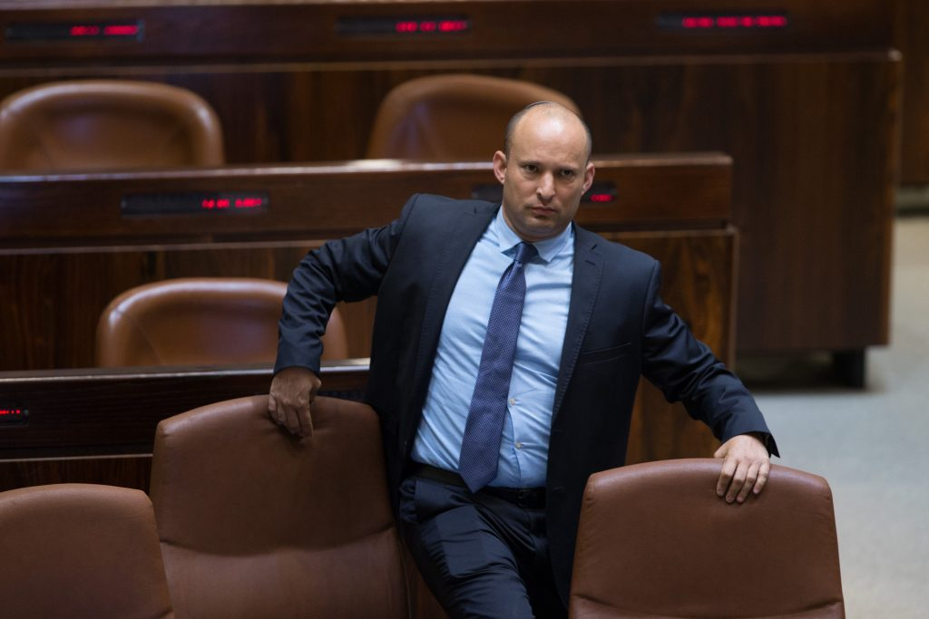 Israeli Minister of Education Naftali Bennett. (Yonatan Sindel/Flash90)