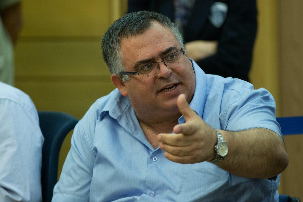 Coalition chairman MK David Bitan (Likud). (Yonatan Sindel/Flash90)