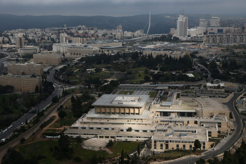 The Knesset building (Nati Shohat/Flash90)