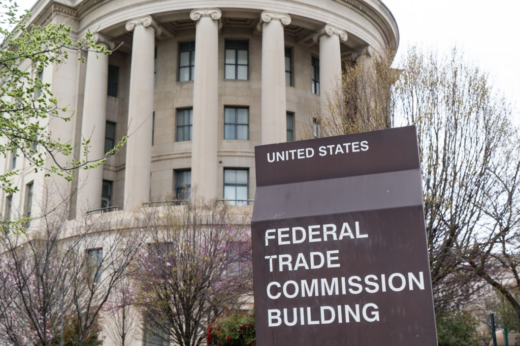 The United States Federal Trade Commission building in Washington, DC.