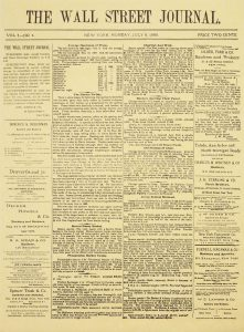 The Wall Street Journal's first edition.