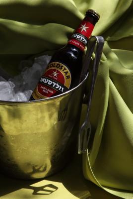 """""""Goldstar"""" beer. Photo by yaakov Naumi/Flash90."""