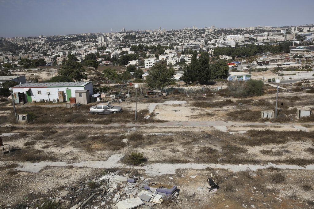 Empty land for home construction in Givat Hamatos . Photo by Nati Shohat/Flash90