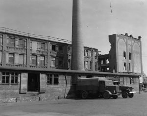 The bakery in Nuremberg, Germany, that supplied bread to Stalag 13, seven miles away. (U.S. Army Signal Corps via AP)