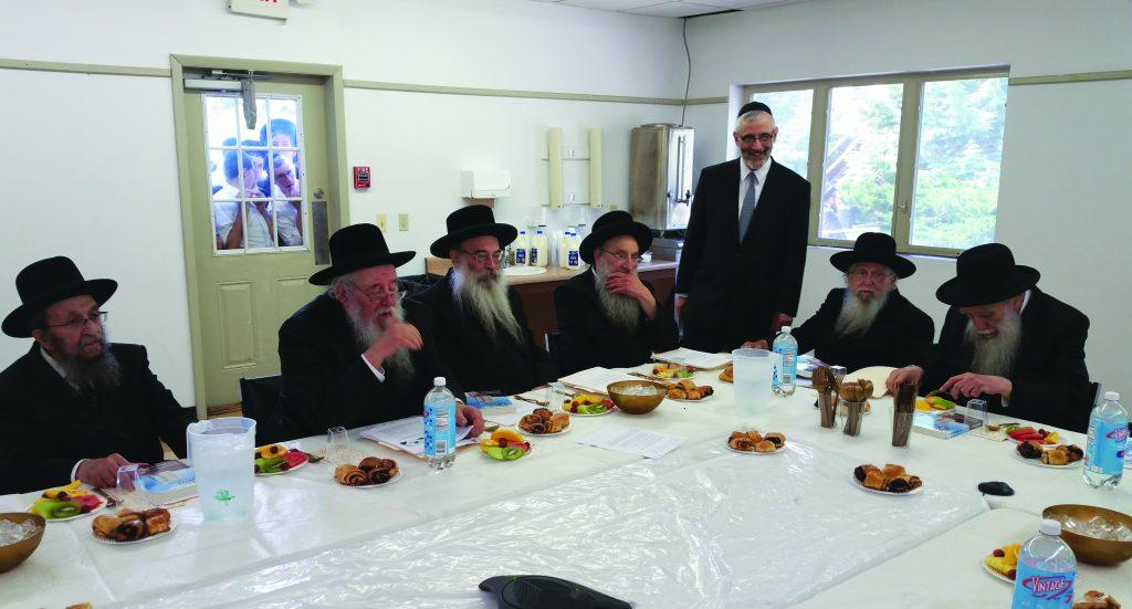 Rabbi Chaim Dovid Zwiebel, executive vice president, Agudath Israel of America, speaking during a meeting of the Moetzes Gedolei HaTorah.