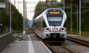 """A display reading """" Do not enter"""" is seen on a train after the attack on Saturday. (Reuters/Arnd Wiegmann)"""
