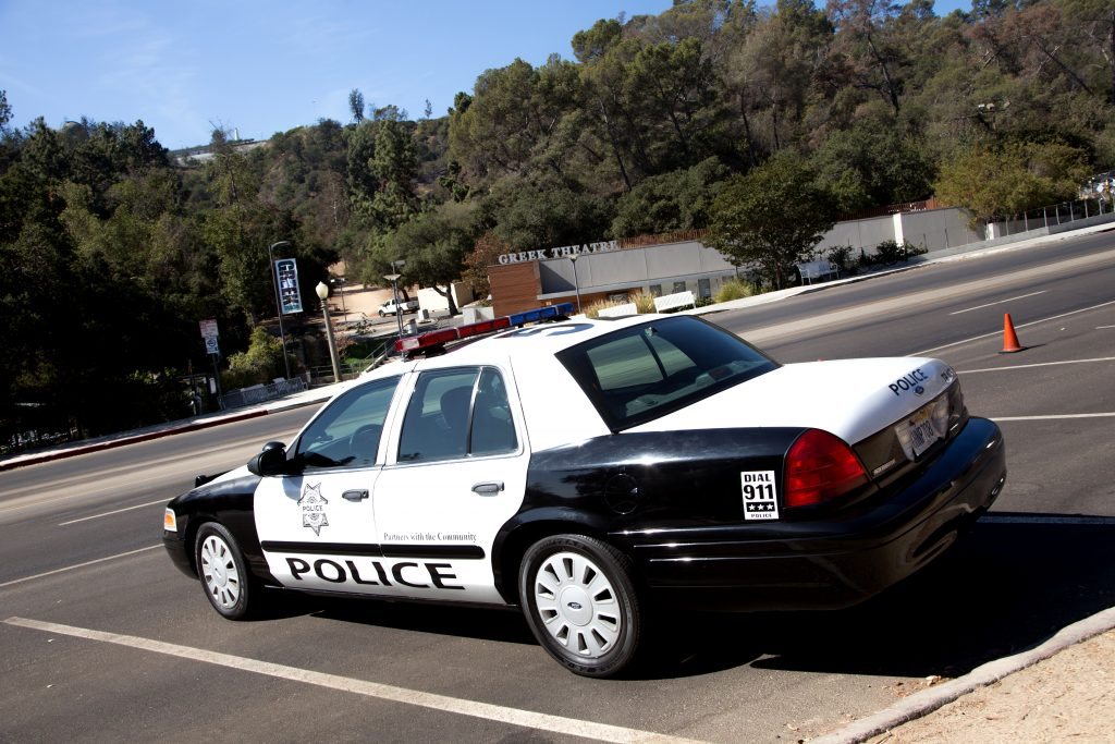"""An LAPD car, known as a """"black and white."""""""