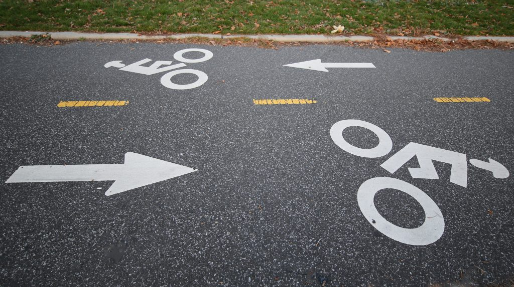 A bicycle path along the Belt Parkway in Brooklyn, N.Y.
