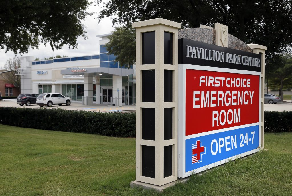 A First Choice Emergency Room in Richardson, Texas. (AP Photo/Tony Gutierrez)