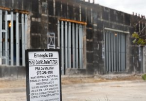 Construction on an Emergis emergency room facility in Dallas, Texas. (AP Photo/Tony Gutierrez)