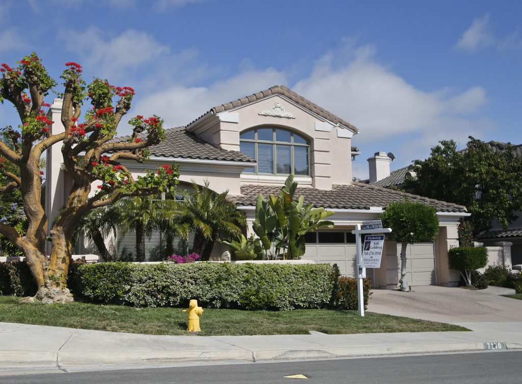 A home for sale in Carlsbad, Calif. (AP Photo/Lenny Ignelzi)