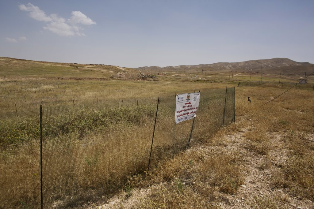 The site in Hardan, northern Iraq, where dozens of Yazidi men were killed in August 2014. (AP Photo/Maya Alleruzzo)