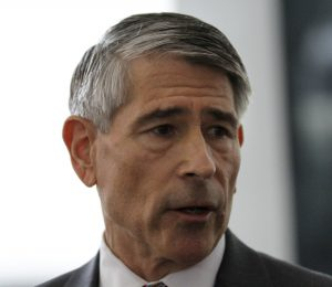 Robert Blagojevich, brother of ex-Illinois Gov. Rod Blagojevich, speaks at the federal courthouse in Chicago on Tuesday, after U.S. District Judge James Zagel resentenced Rod Blagojevich to his original 14-year term. (AP Photo/Tae-Gyun Kim)