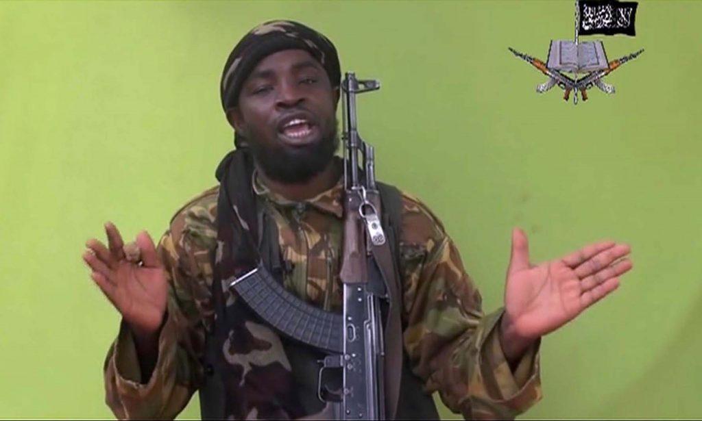 Abubakar Shekau speaking, in an image taken from video in 2014. (AP Photo/File)