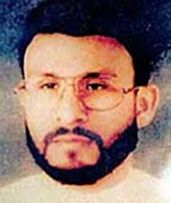 This photo provided by U.S. Central Command, shows Abu Zubaydah, date and location unknown. A Palestinian not seen publicly since his capture by the CIA in 2002 has appeared at a U.S. government hearing called to determine whether he should remain in detention at the U.S. military prison at Guantanamo Bay, Cuba. The 45-year-old Abu Zubaydah has been held at Guantanamo since September 2006. (AP Photo/U.S. Central Command)