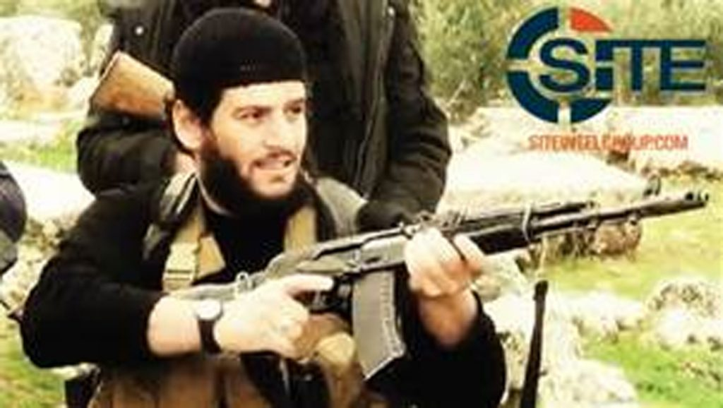 Abu Muhammed al-Adnani (SITE Intel Group via AP)