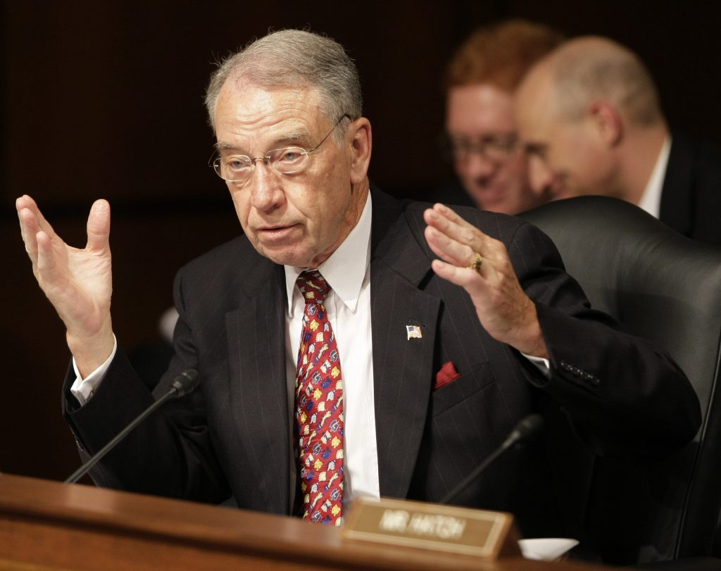 Sen. Charles E. Grassley, R-Iowa. (AP Photo/J. Scott Applewhite)