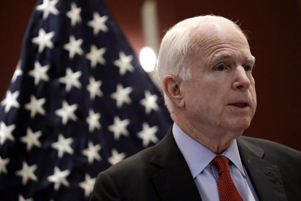 Sen. John McCain, R-Ariz., shown here speaking in Singapore in June. (AP Photo/Wong Maye-E)