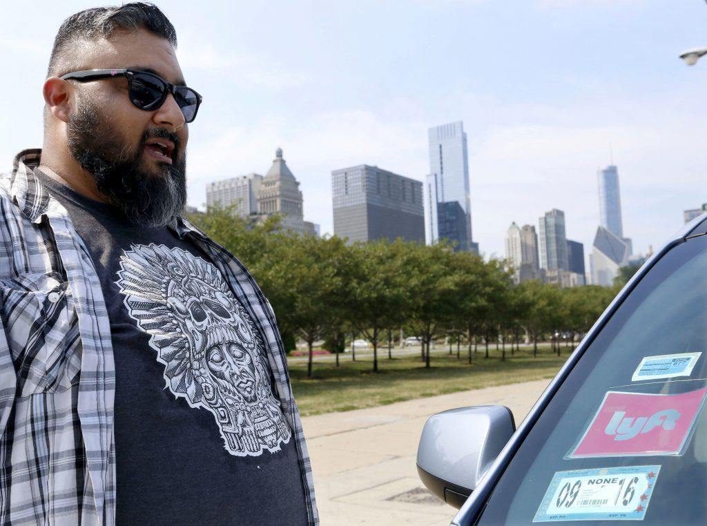 Carlos Correa, a Lyft driver. (AP Photo/Tae-Gyun Kim)