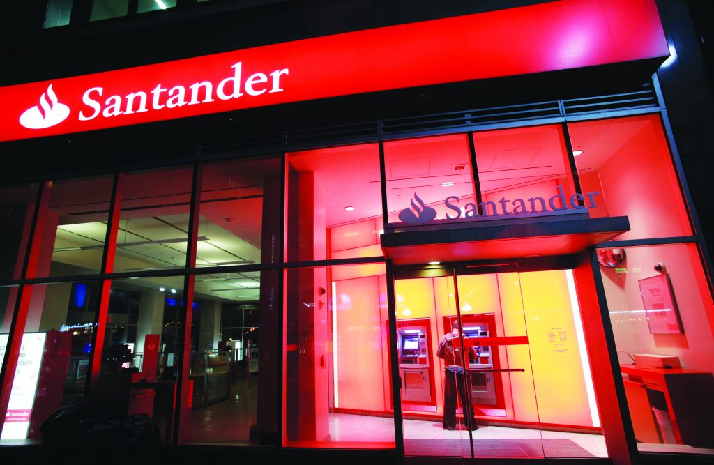 A branch of Santander bank in New York. (AP Photo/Mark Lennihan, File)