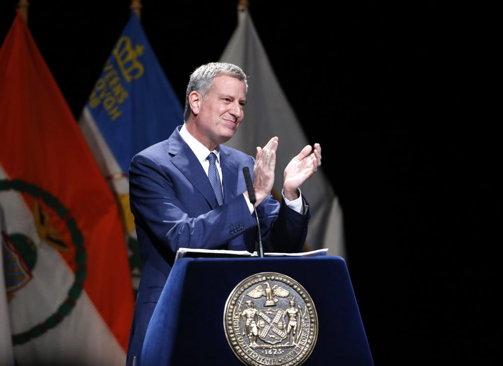 New York Mayor Bill de Blasio. (AP Photo/Kathy Willens)