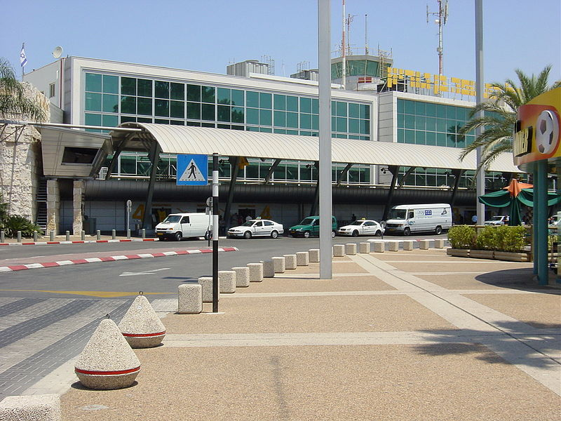The entrance to Ben Gurion Airport's Terminal 1. (VOrash)