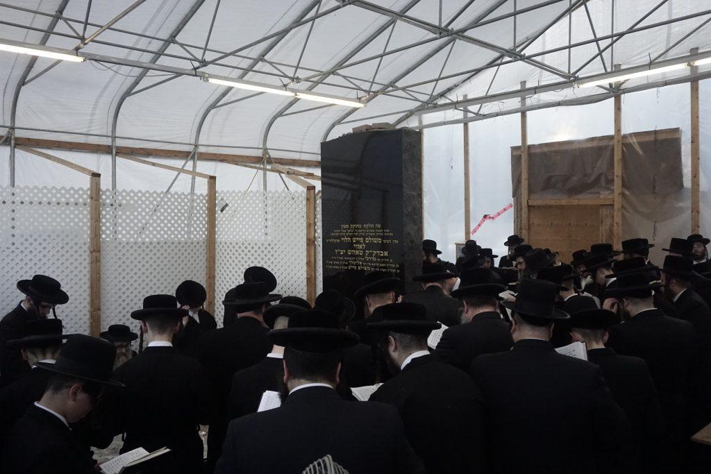 "Tefillos at the kever of the Rebbe, zt""l. (JDN)"
