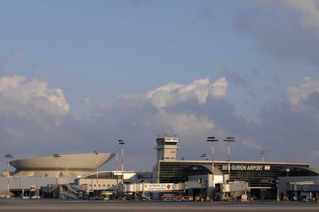 A view of Aviv Ben Gurion Airport (Tomer Neuberg/Flash90)