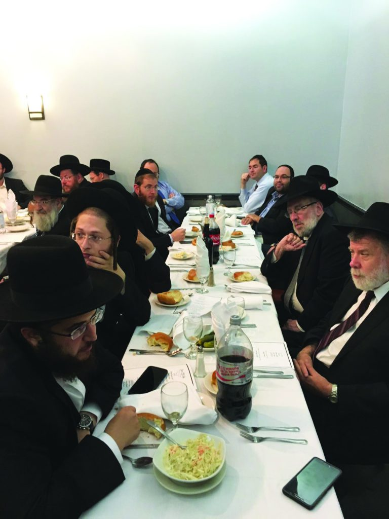 A partial view of the descendants of Harav Bruder at the yahrtzeit gathering.