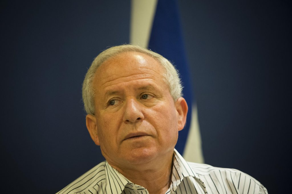 Avi Dichter, a former head of the Shin Bet domestic intelligence agency, now chairman of the Knesset Foreign Affairs and Defense Committee. (Yonatan Sindel/ Flash90)