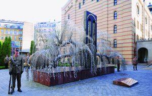The 'Emanuel Memorial Tree' in the Raoul Wallenberg Memorial Garden in Budapest. (ATTILA KISBENEDEK/AFP/Getty Images)