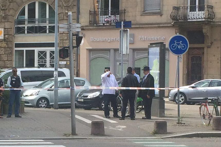 The scene of Friday's attack in Strasbourg. (Meni Bromer, Strasbourg)