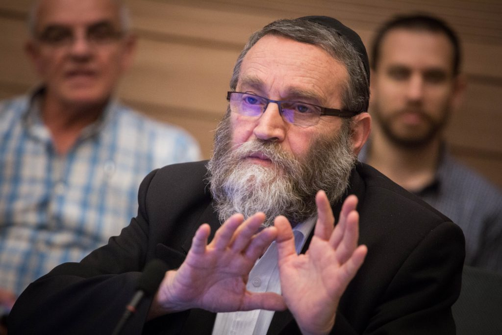 "Finance Committee Chairman Rabbi Moshe Gafni (UTJ): ""The two-year budget has advantages and disadvantages."" (Hadas Parush/Flash90)"