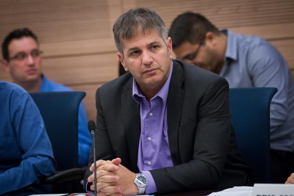 Likud MK Yoav Kisch, a leader of the Land of Israel Caucus in the Knesset. (Miriam Alster/Flash90)