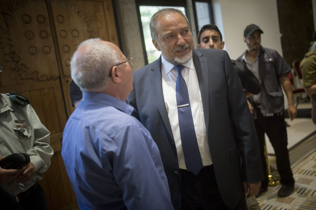 Defense Minister Avigdor Liberman. (Yonatan Sindel/Flash90)