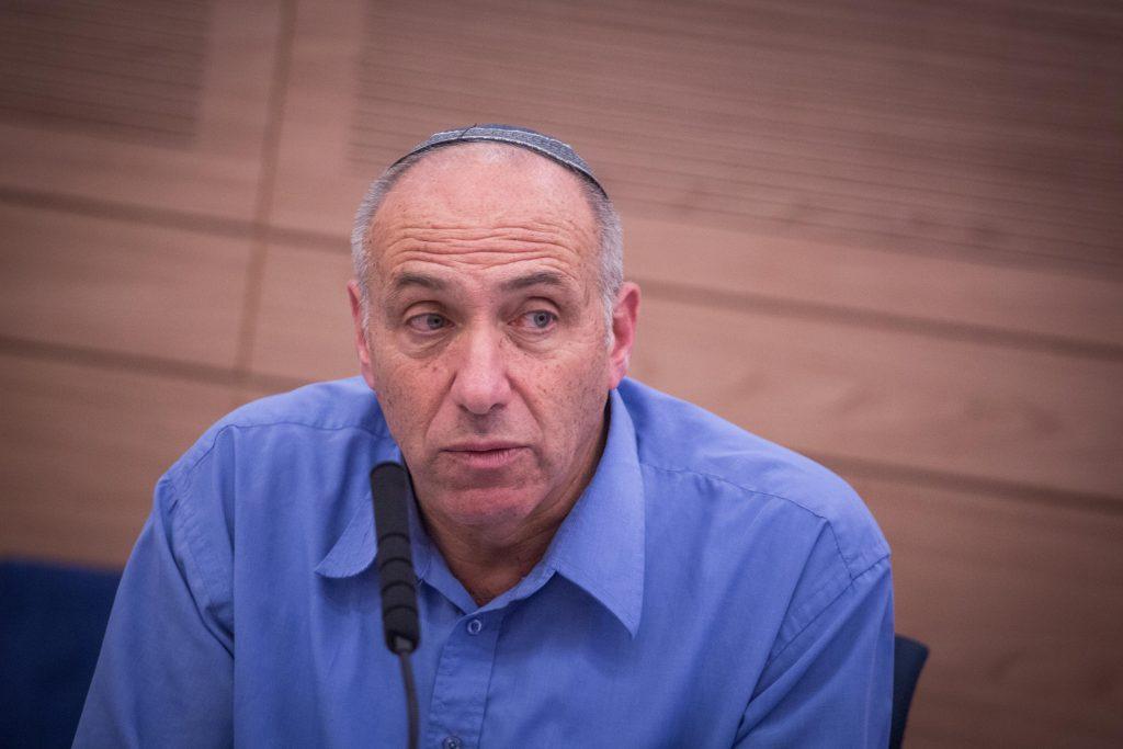 Jewish Home Knesset Member Motti Yogev. (Hadas Parush/Flash90)