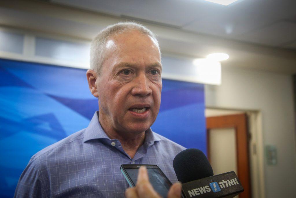 Minister of Construction and Housing Yoav Galant , of Kulanu. (Marc Israel Sellem/POOL)