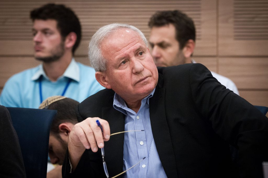 Foreign Affairs and Security Committee Chairman (Likud) MK Avi Dichter. (Miriam Alster/Flash90)