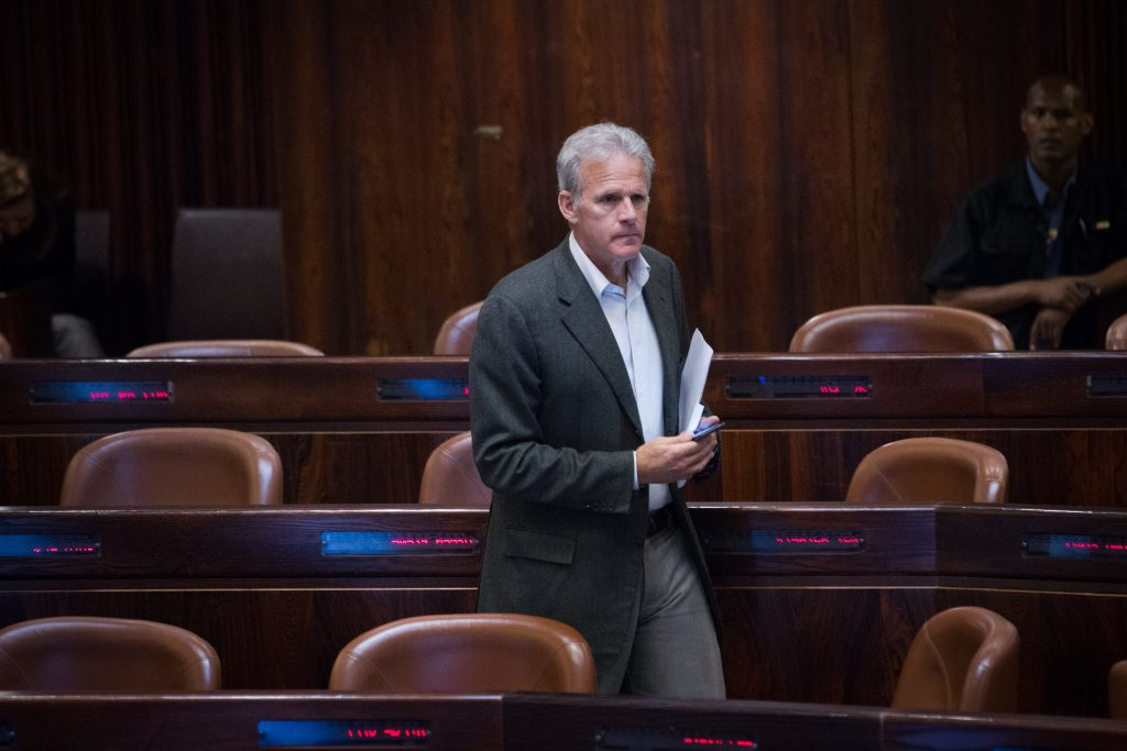 "Kulanu MK Michael Oren, on his way to the Prime Minister's Office as a ""special envoy."" (Miriam Alster/Flash90)"