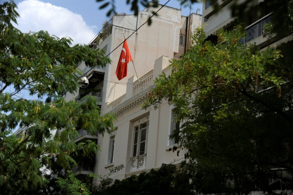 A view of the building of Turkish Embassy in Athens, Greece, August 11, 2016. REUTERS/Michalis Karagiannis TPX IMAGES OF THE DAY